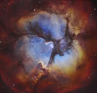 M20, The Trifid Nebula in Sagittarius.