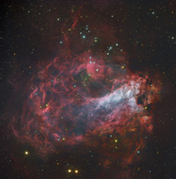 M17, The Omega Nebula in Sagittarius.