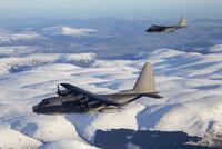 MC-130P Combat Shadow and MC-130H Combat Talon over Scotland.