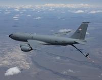 A KC-135R Stratotanker over central Oregon.