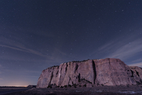 Big Dipper over the large mesa in El Malpais National Monument.