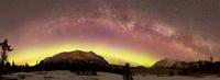 Aurora Borealis, Comet Panstarrs and Milky Way over Yukon, Canada.