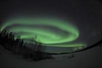 Aurora Borealis over Vee Lake, Northwest Territories, Canada. 11079024953| 写真素材・ストックフォト・画像・イラスト素材|アマナイメージズ