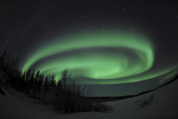 Aurora Borealis over Vee Lake, Northwest Territories, Canada.