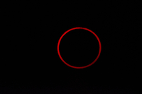 Totality during annular solar eclipse.