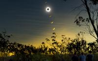 Solar eclipse composite, Queensland, Australia.