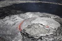 Overflowing lava lake in pit crater, Erta Ale volcano, Afar region, Danakil Depression, Ethiopia.