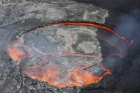 Lava lake, Erta Ale volcano, Danakil Depression, Ethiopia.