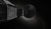 Starship inspired by the novels of Stephen Baxter. 11079025591| 写真素材・ストックフォト・画像・イラスト素材|アマナイメージズ