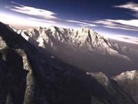 Terragen render of Kitt Peak, Arizona, USA.