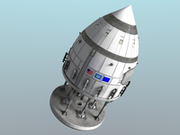 Orion-drive spacecraft in standard configuration for space flight.