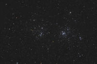 NGC 884 and NGC 869, the Double Cluster in Perseus. 11079025663| 写真素材・ストックフォト・画像・イラスト素材|アマナイメージズ