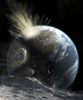 A catastrophic comet impact on Earth.