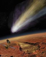 2014 Comet over Aromatum, Mars