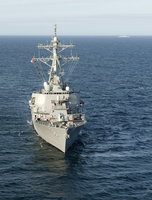 The guided-missile destroyer USS Laboon.