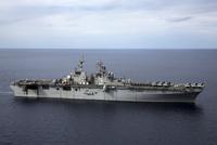 The amphibious assault ship USS Kearsarge.