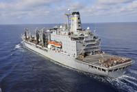 The Military Sealift Command fleet replenishment oiler USNS Rappahannock. 11079026413| 写真素材・ストックフォト・画像・イラスト素材|アマナイメージズ
