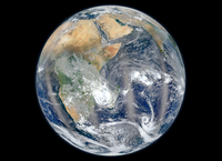 Full Earth showing the eastern hemisphere.