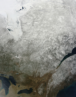 Satellite view of Eastern Canada.
