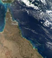 Satellite view of the Australian coast.