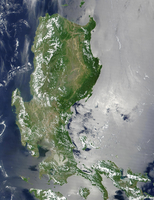 Satellite image of the northern Philippines.