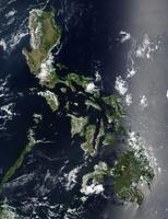 Satellite image of the Philippines.