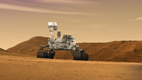 Artist concept of NASA's Mars Science Laboratory Curiosity rover.