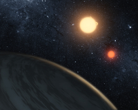 Artist's concept illustrating Kepler-16b.