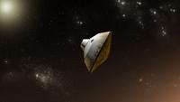 Concept of NASA's Mars Science Laboratory aeroshell capsule as it enters the Martian atmosphere. 11079026570| 写真素材・ストックフォト・画像・イラスト素材|アマナイメージズ