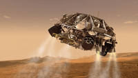 The rover and descent stage for NASA's Mars Science Laboratory spacecraft. 11079026573| 写真素材・ストックフォト・画像・イラスト素材|アマナイメージズ