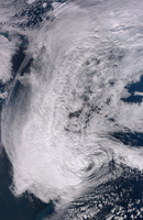 Hurricane Sandy along the Northeastern coast of the United States.