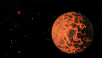 Artist's concept of an exoplanet known as UCF-1.01, orbiting a star called GJ 436.