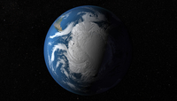 Ful Earth showing simulated clouds over Antarctica. 11079026710  写真素材・ストックフォト・画像・イラスト素材 アマナイメージズ