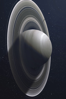 Illustration of Saturn, the sixth planet of our solar system.