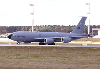 A KC-135R Stratotanker taxiing at Ramstein Air Base, Germany.