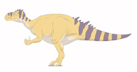 Iguanodon pencil drawing with digital color.