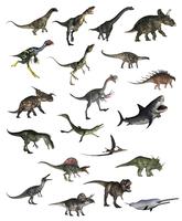 Set of dinosaurs.