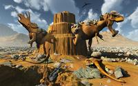 Living fossils in a desert landscape.