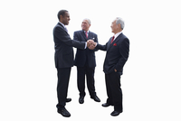 Businessmen shaking hands, cut out