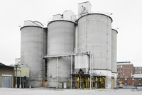 Cement silos at factory