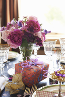Table set for wedding reception 11086001488| 写真素材・ストックフォト・画像・イラスト素材|アマナイメージズ