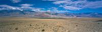 Mountains overlooking desert landscape