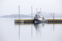 Fishing boat mooring at dock