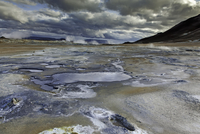 Small mineral pools, Namaskard, Myvatn, Iceland