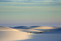 Tranquil white sand dune, White Sands, New Mexico, United States