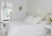 Home showcase interior white bed and bedroom
