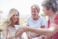 Senior women using cell phone