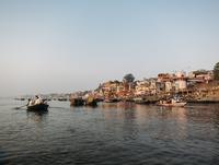 Boats on river, Varanasi, India