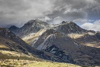 Landscape view of Sutherland mountains, New Zealand