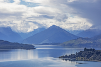 Scenic view of lake and mountains, Glenorchy, South Island New Zealand